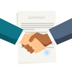 Conclusion of a contract Handshake two vector