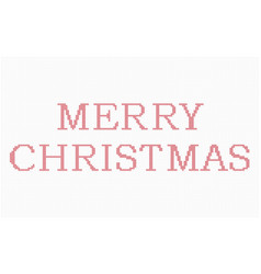 cross stitch merry christmas vector image