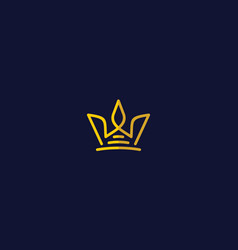crown icon logo vector image