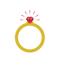 diamond ring graphic design template vector image