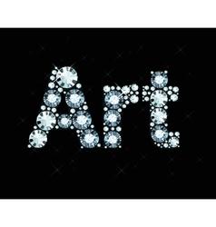 Diamond Word Art vector