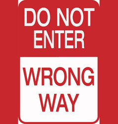 do not enter street sign eps10 vector image