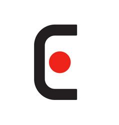 E e logo logotype - english font upper case letter vector