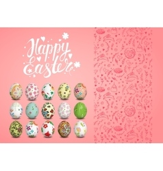 Easter seamless pattern eggs and vector image