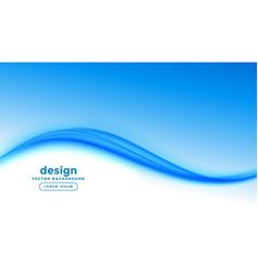 Elegant business style blue wave presentation vector