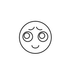 emoji chastity icon vector image
