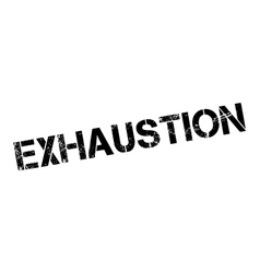 Exhaustion rubber stamp vector