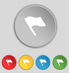 Finish start flag icon sign Symbol on five flat vector
