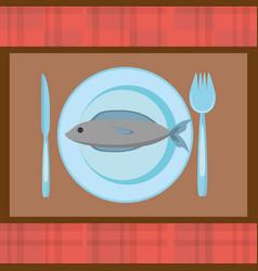 fish food fresh nutrition image vector image