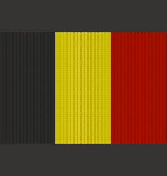 flag of belgium on knitted woolen texture vector image