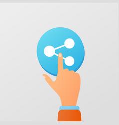flat social media concept vector image