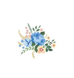 Floral frame pattern flower bouquet background vector