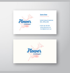 flower company abstract sign or logo and vector image