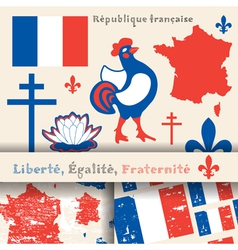 france symbols vector image