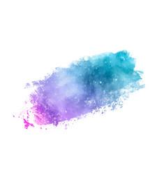 Galaxy watercolor splash vector