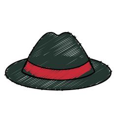 gentleman hat isolated icon vector image