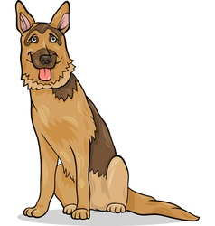 German shepherd dog cartoon vector
