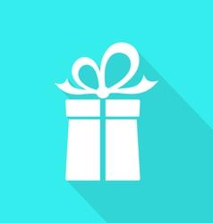 Gift box card vector