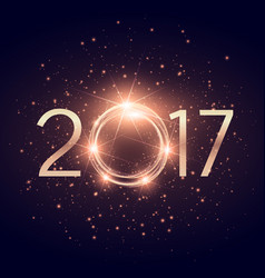 glowing 2017 text with glitter shiny effect vector image