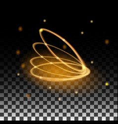 gold ring glowing with the reflections vector image
