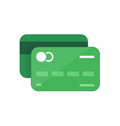 Green credit card online payment cash withdrawal vector