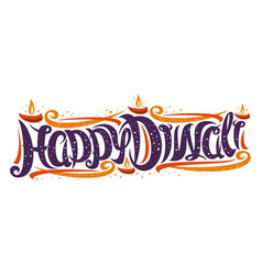 Greeting card for indian diwali festival vector