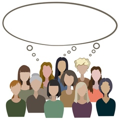 Group of women have a common think vector