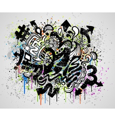 grunge graffiti design vector image