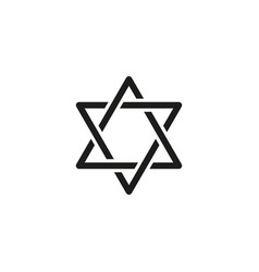 Hanukkah of holiday icon the happy day vector