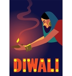 Happy Diwali Celebration vector