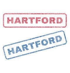 Hartford textile stamps vector
