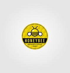 Honeybee cute logo village farm design vector