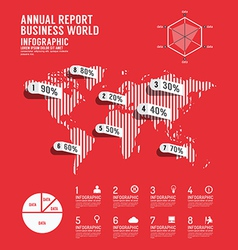 infographic annual report business world vector image
