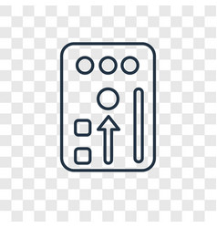 Intercom concept linear icon isolated on vector