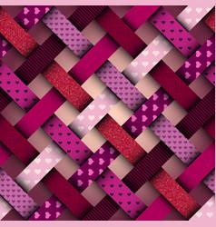 Interweaving red pattern vector