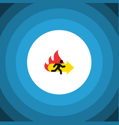 Isolated emergency flat icon fire exit vector