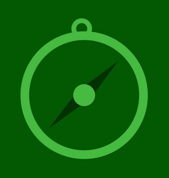 Isolated flat compass compass traveler compass vector
