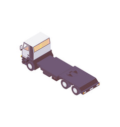 isometric truck tractors for cargo delivery vector image