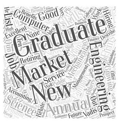 JH jobs for the new grad Word Cloud Concept vector image