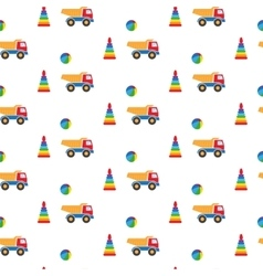 Kids toys Pattern vector image