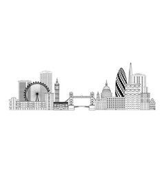london skyline london cityscape with famous vector image