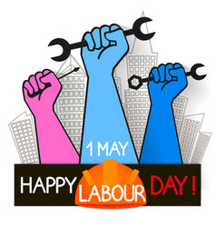 May 1st labor day vector