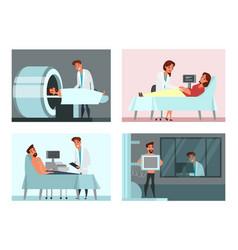 Medical examining check-up set vector