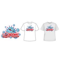 mock up shirt with coronavirus icon vector image