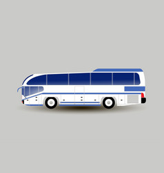 modern intercity or tourist bus on light gray vector image