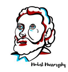 Modest mussorgsky portrait vector