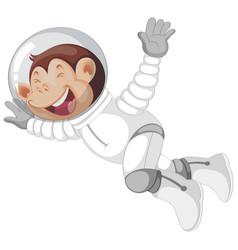 Monkey in astronaut suit vector