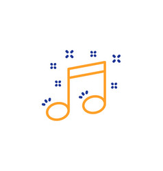 musical note line icon music sign vector image