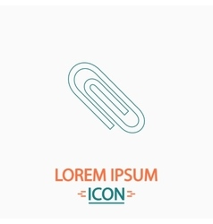 paper clip computer symbol vector image