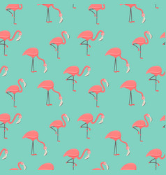 pink flamingo seamless pattern for summer season vector image